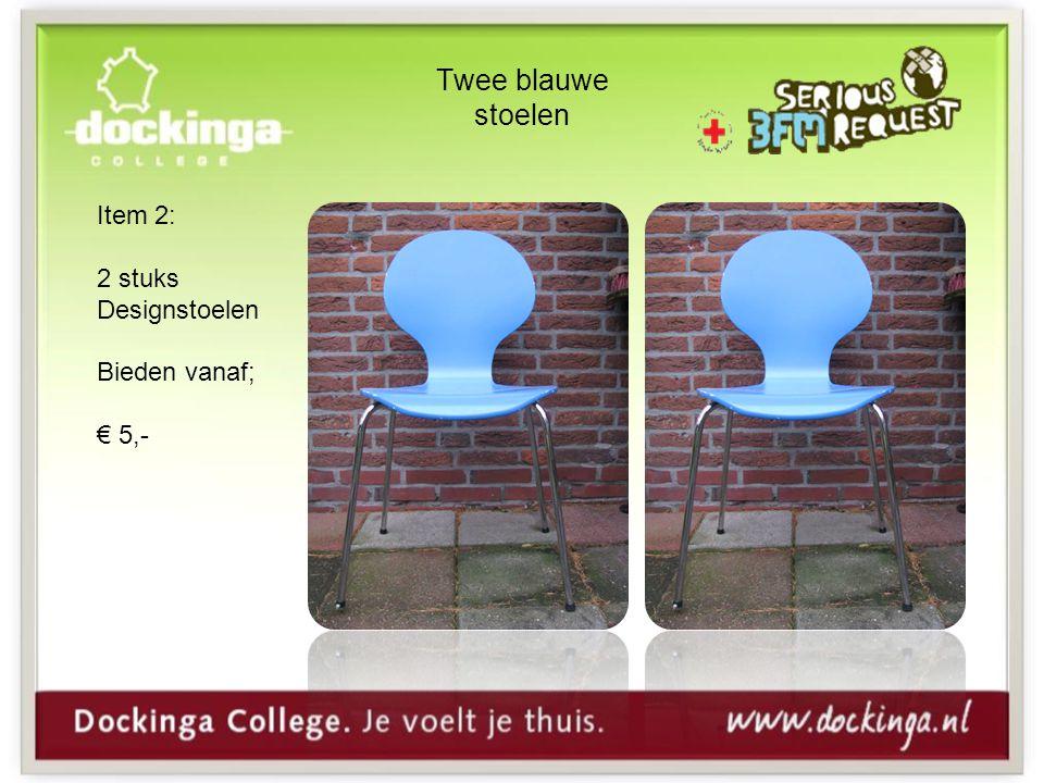 Twee blauwe stoelen Item 2: 2 stuks Designstoelen Bieden vanaf; € 5,-