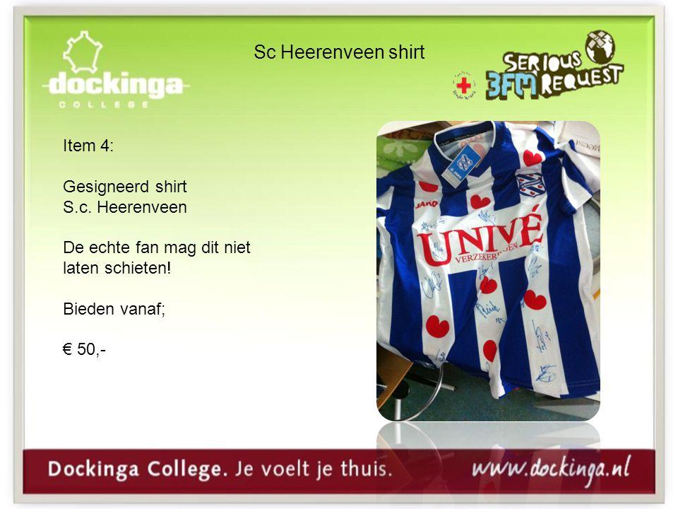 Sc Heerenveen shirt Item 4: Gesigneerd shirt S.c.