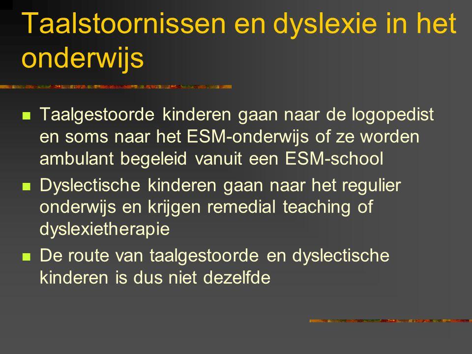 Categoriseren van spraakklanken: conclusie Kinderen met een dyslexierisico nemen minder waar 'in categorieen' dan controlekinderen.