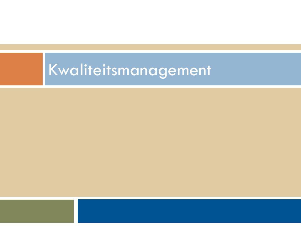 Walter Groen / Jurgen van de Donk 14/2/2012 Kwaliteitsmanagement