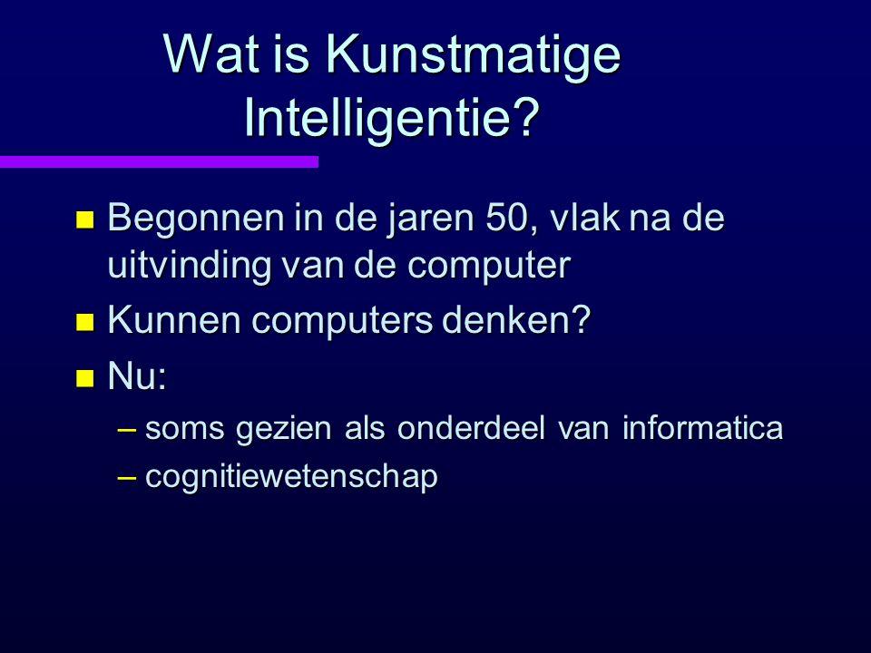 Wat is Kunstmatige Intelligentie.