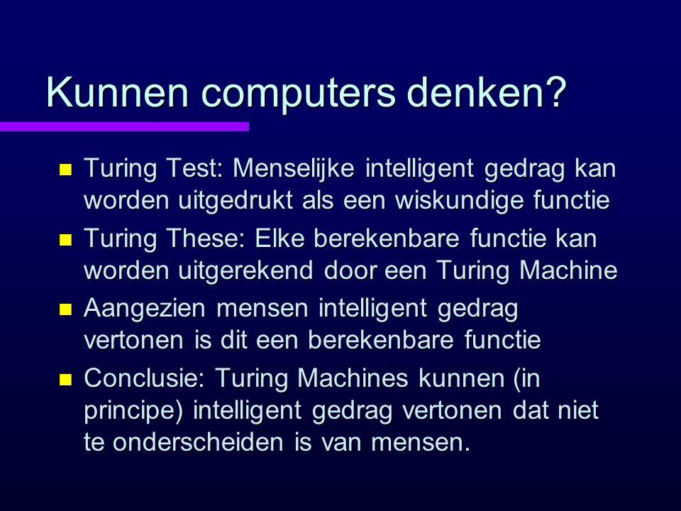 Kunnen computers denken.