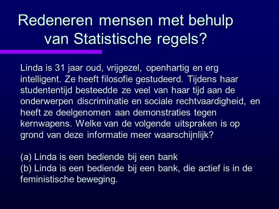 Redeneren mensen met behulp van Statistische regels.