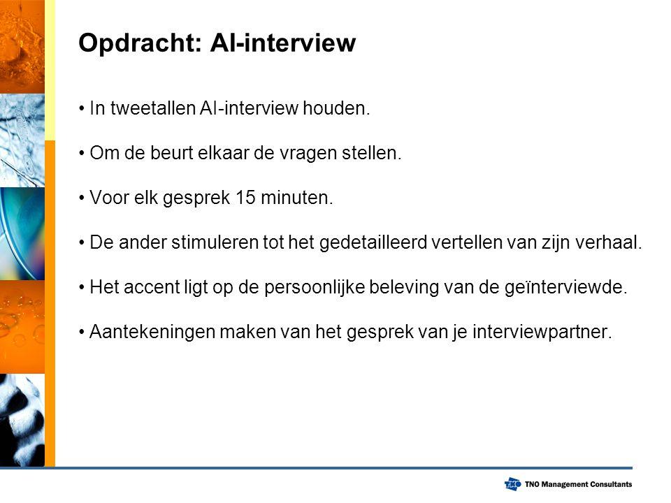 Opdracht: AI-interview In tweetallen AI-interview houden.