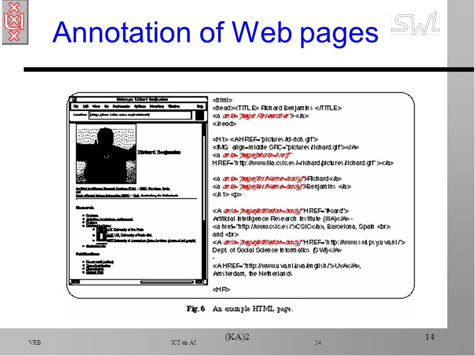 VRB ICT en AI 14 (KA)214 Annotation of Web pages