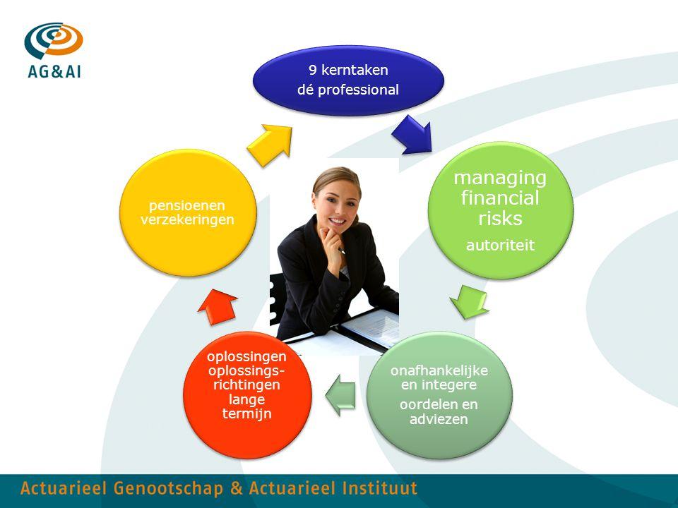 9 kerntaken dé professional managing financial risks autoriteit onafhankelijke en integere oordelen en adviezen oplossingen oplossings- richtingen lan