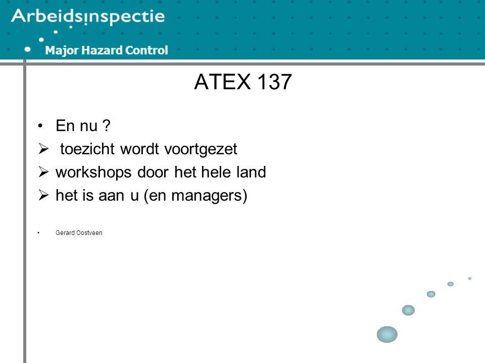 Major Hazard Control ATEX 137 En nu .