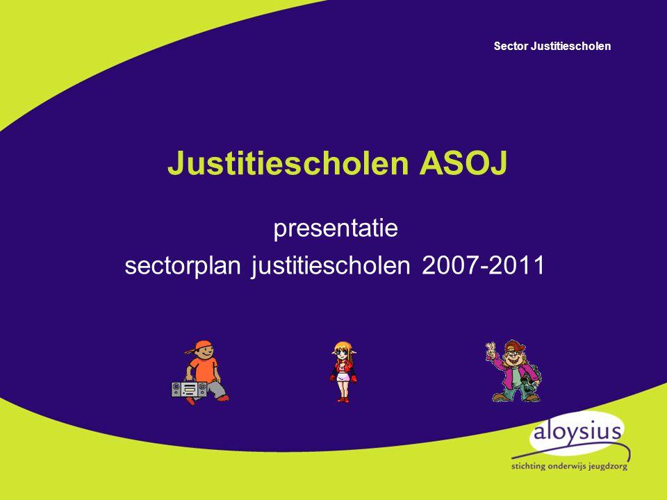 Sector Justitiescholen Hoofdlijnennotitie ASOJ Sectorplan justitiescholen Schoolplan Vakgroepplan