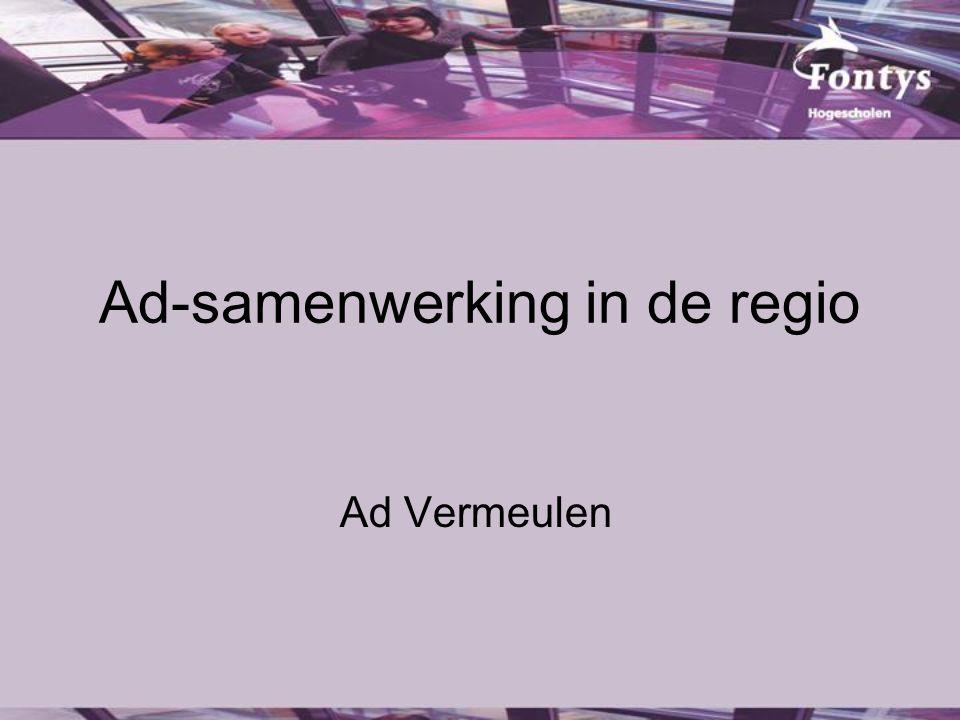 Ad-samenwerking in de regio Ad Vermeulen