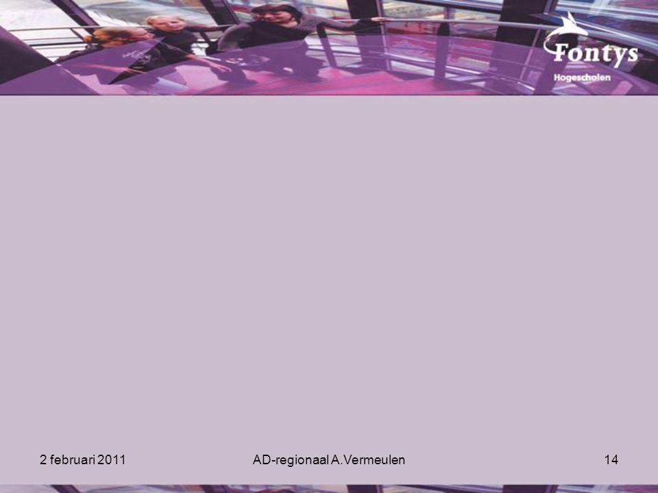 2 februari 2011AD-regionaal A.Vermeulen14