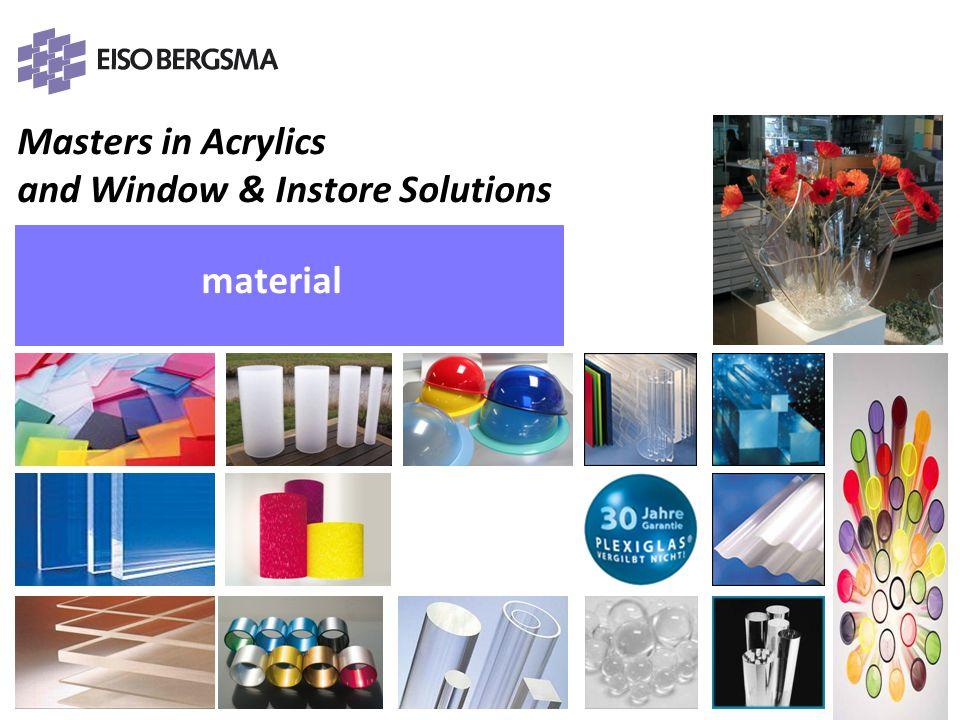 Masters in Acrylics and Window & Instore Solutions PRESENTATIE Eiso Bergsma material PRESENTATIE Eiso Bergsma