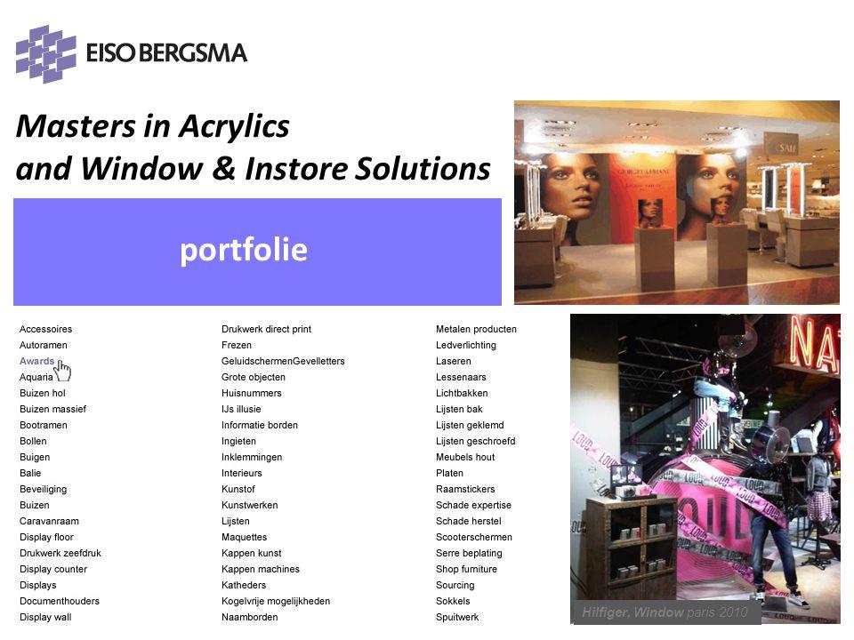 Masters in Acrylics and Window & Instore Solutions PRESENTATIE Eiso Bergsma portfolie Hilfiger, Window paris 2010 PRESENTATIE Eiso Bergsma PRESENTATIE