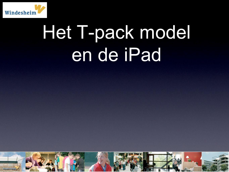 Het T-pack model en de iPad