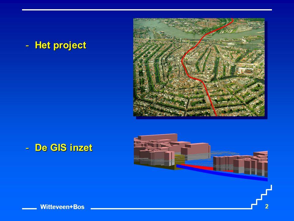 Witteveen+Bos 23 GIS Inzet Koppeling geotechnische modellen Geotechnisch Lengte profiel Risico voorspelling Vergroten inzicht Volume berekening Monitoring IBBS