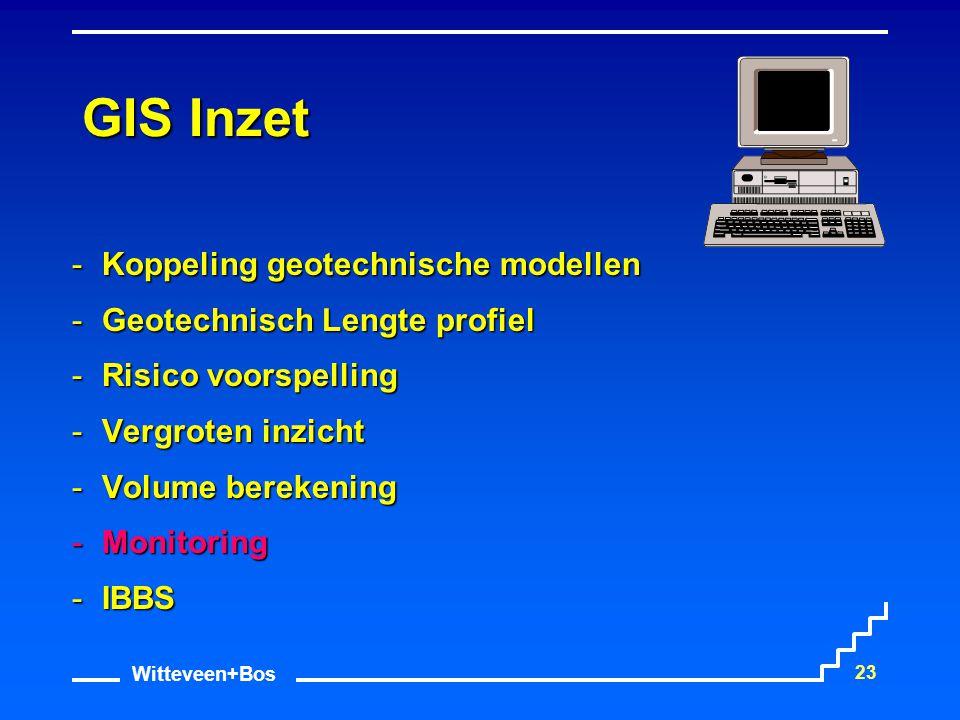 Witteveen+Bos 23 GIS Inzet Koppeling geotechnische modellen Geotechnisch Lengte profiel Risico voorspelling Vergroten inzicht Volume berekening 