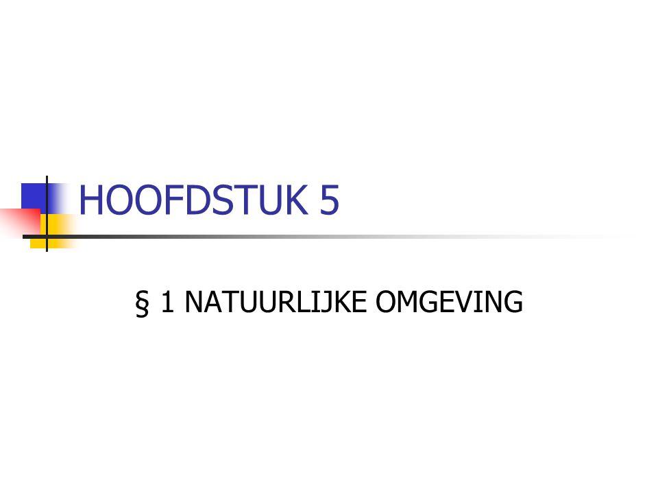 HOOFDSTUK 5 § 1 NATUURLIJKE OMGEVING