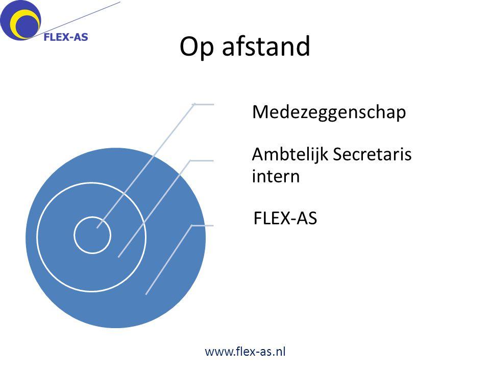 Op afstand Medezeggenschap Ambtelijk Secretaris intern FLEX-AS www.flex-as.nl