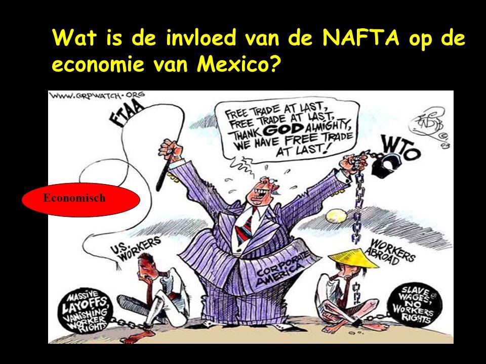 Wat is de invloed van de NAFTA op de economie van Mexico? Economisch