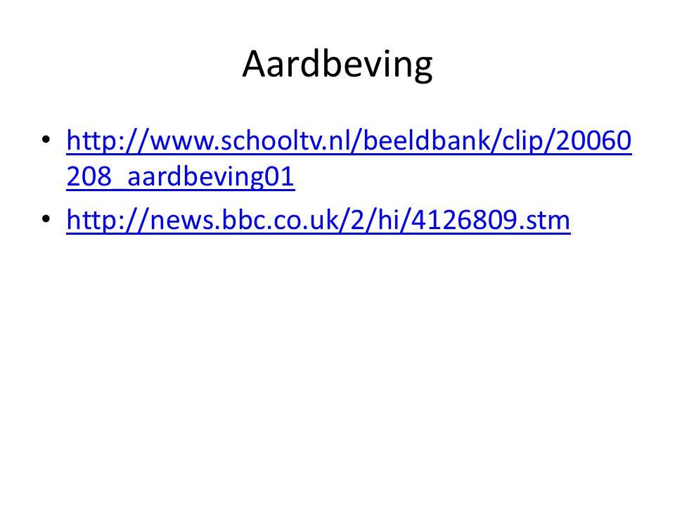 Aardbeving http://www.schooltv.nl/beeldbank/clip/20060 208_aardbeving01 http://www.schooltv.nl/beeldbank/clip/20060 208_aardbeving01 http://news.bbc.c