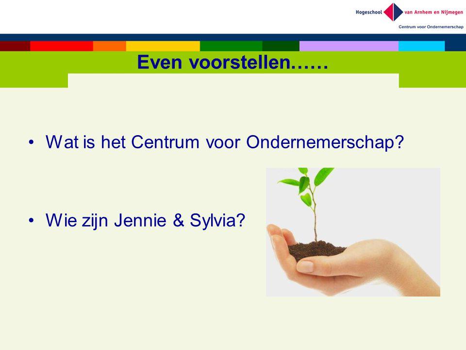 Even voorstellen…… Wat is het Centrum voor Ondernemerschap? Wie zijn Jennie & Sylvia?