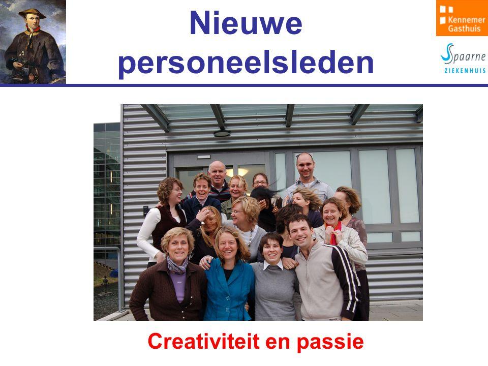 Nieuwe personeelsleden Creativiteit en passie