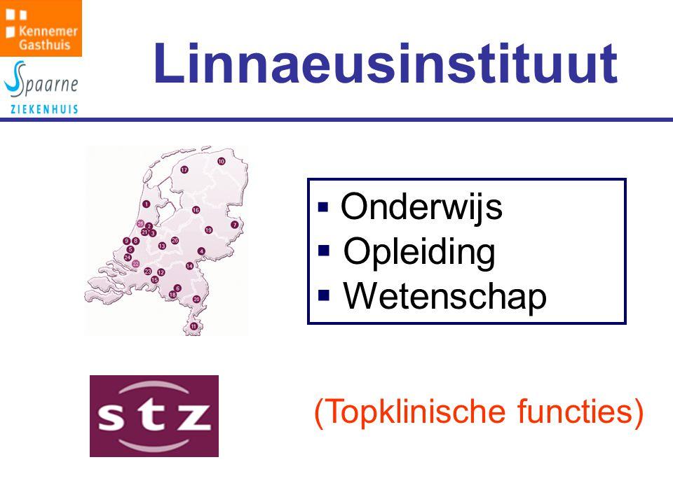 Linnaeusinstituut  Onderwijs  Opleiding  Wetenschap (Topklinische functies)