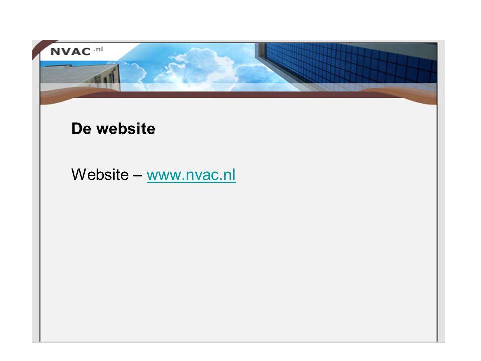 De website Website – www.nvac.nlwww.nvac.nl