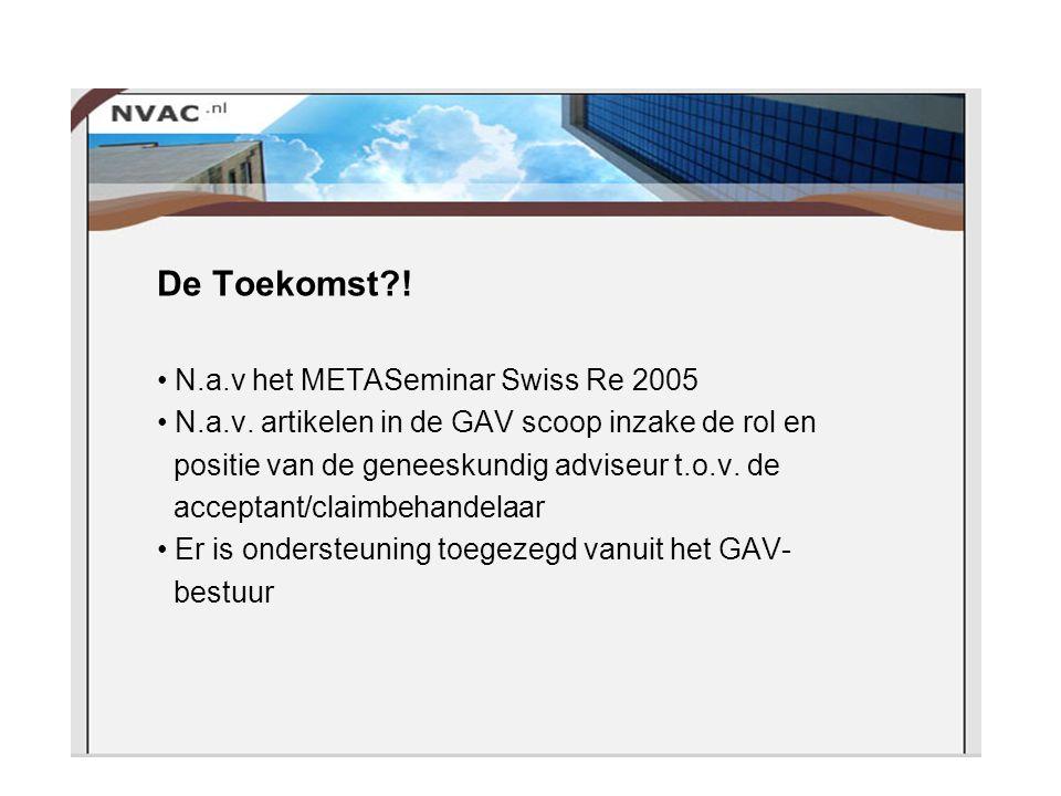 De Toekomst . N.a.v het METASeminar Swiss Re 2005 N.a.v.
