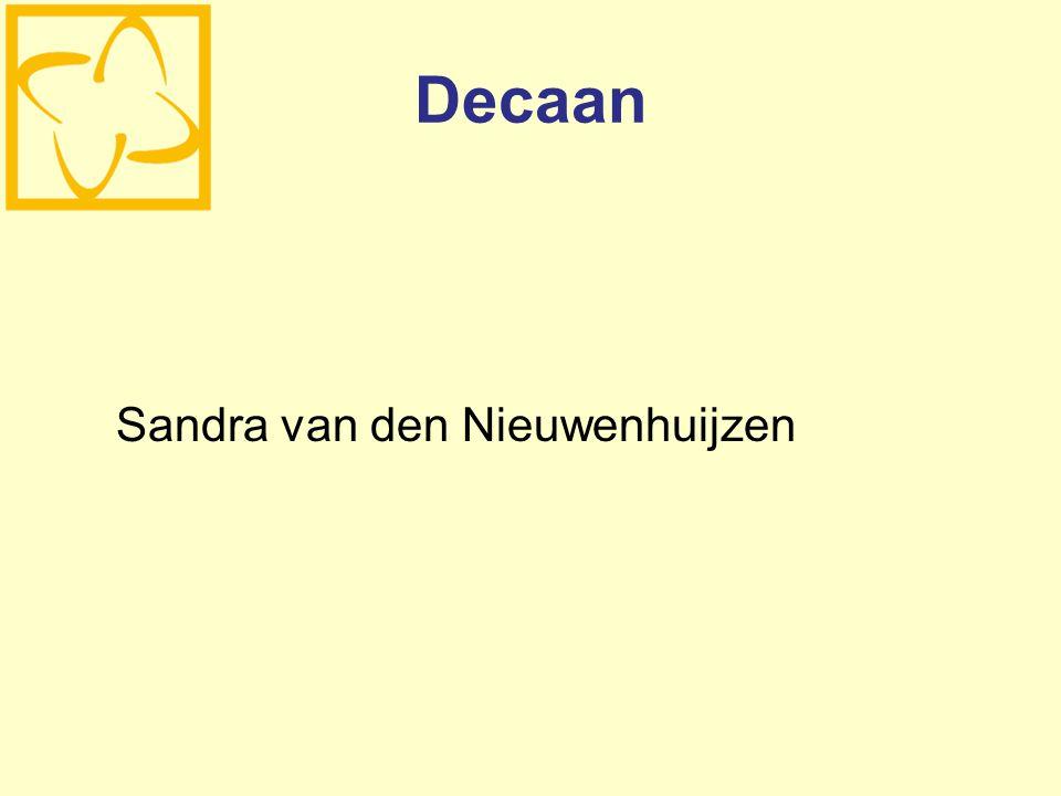 Decaan Sandra van den Nieuwenhuijzen