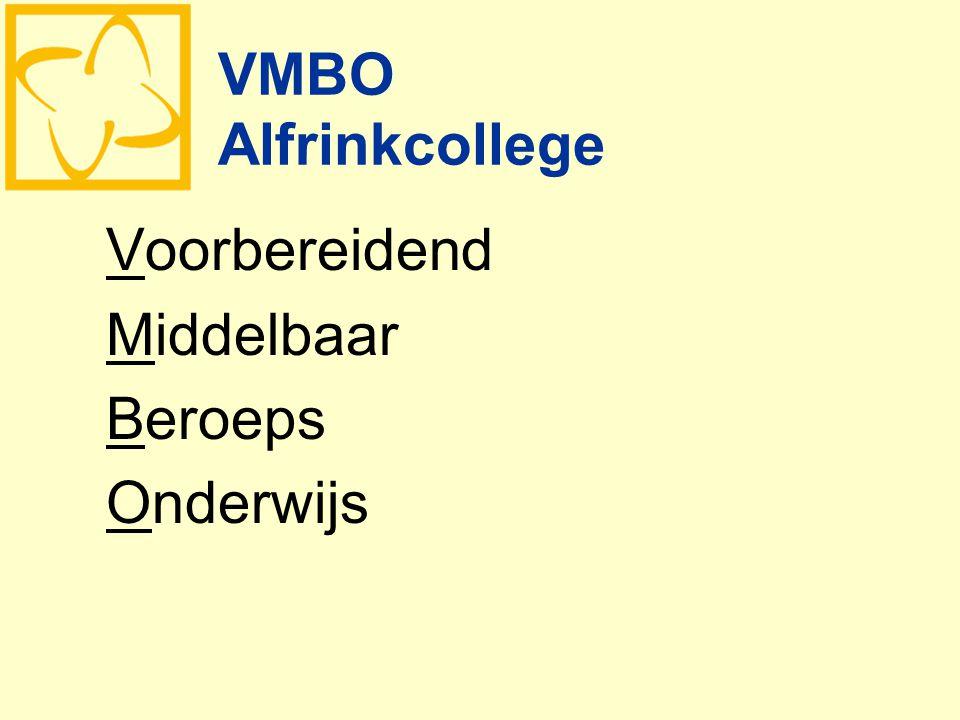 VMBO Alfrinkcollege Voorbereidend Middelbaar Beroeps Onderwijs