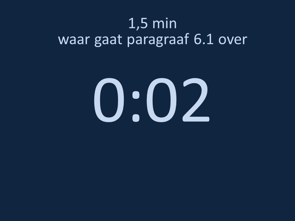 1,5 min waar gaat paragraaf 6.1 over 0:02