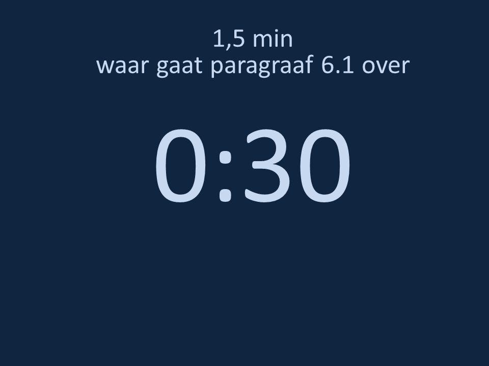 1,5 min waar gaat paragraaf 6.1 over 0:20