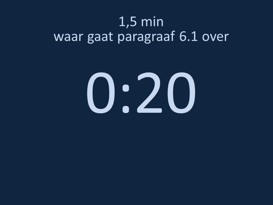 1,5 min waar gaat paragraaf 6.1 over 0:10