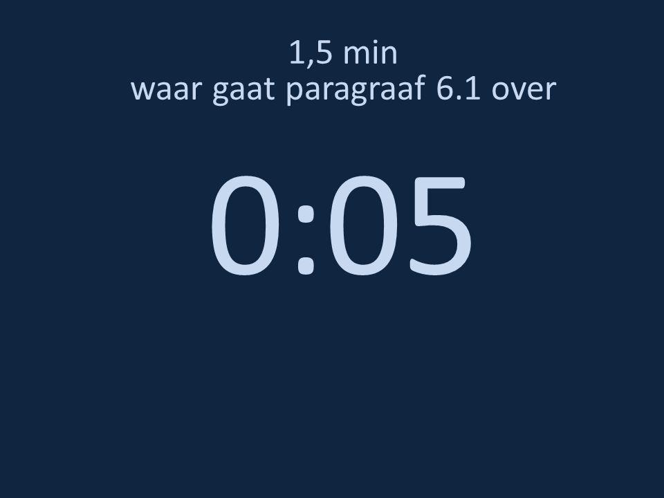 1,5 min waar gaat paragraaf 6.1 over 0:05