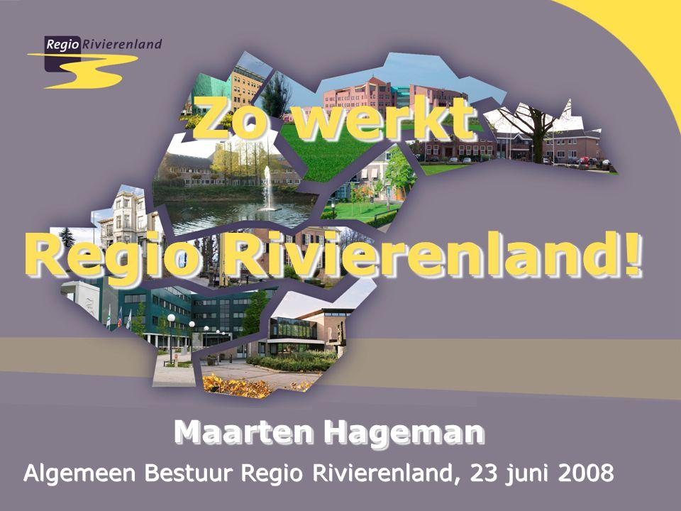 Zo werkt Regio Rivierenland. Zo werkt Regio Rivierenland.