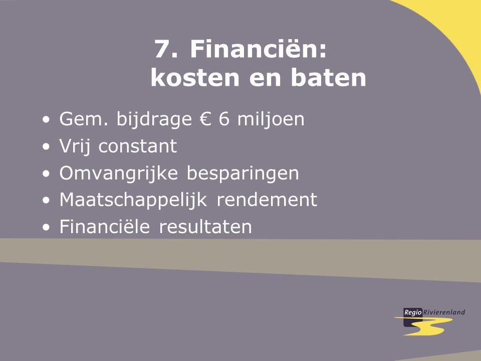 7.Financiën: kosten en baten Gem.