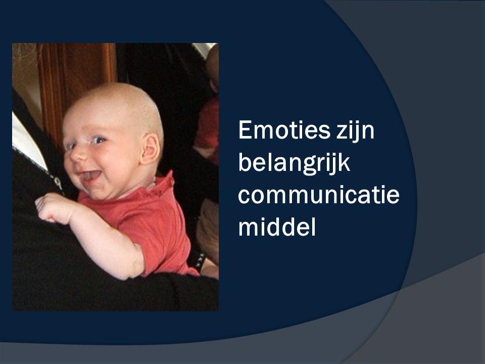 Emoties zijn belangrijk communicatie middel