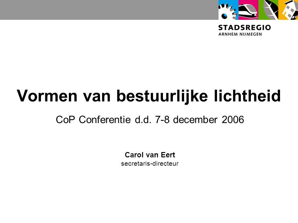 Vormen van bestuurlijke lichtheid CoP Conferentie d.d.
