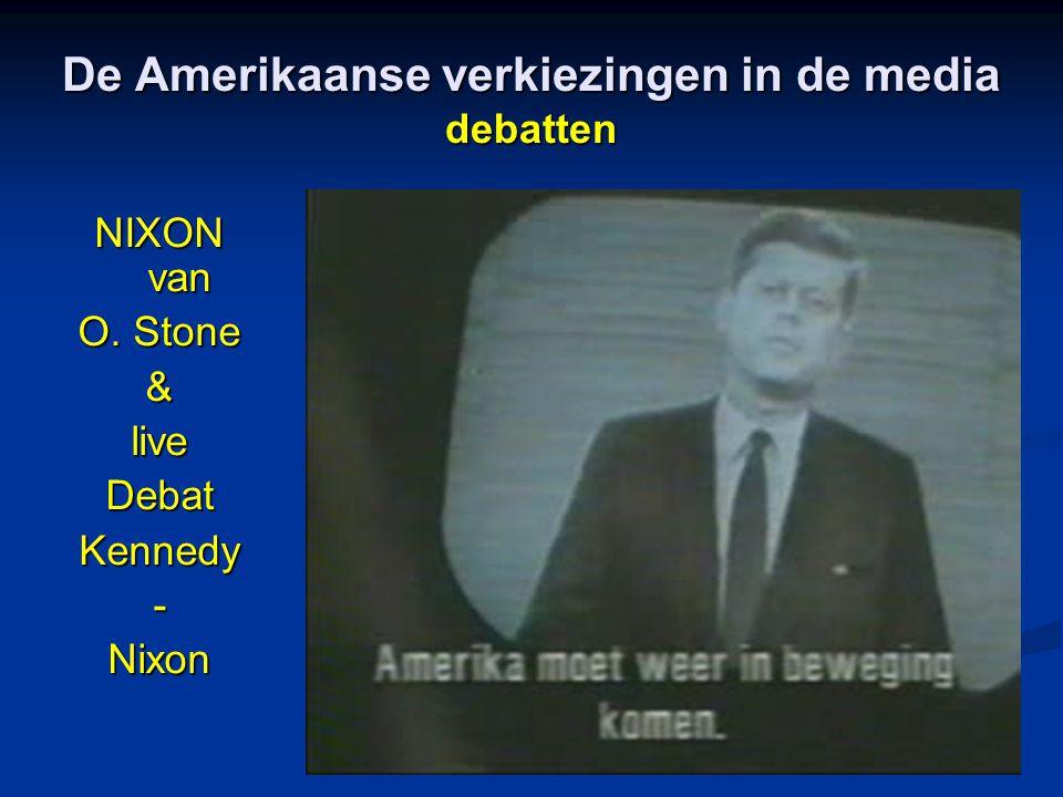 De Amerikaanse verkiezingen in de media debatten NIXON van O. Stone &liveDebatKennedy-Nixon