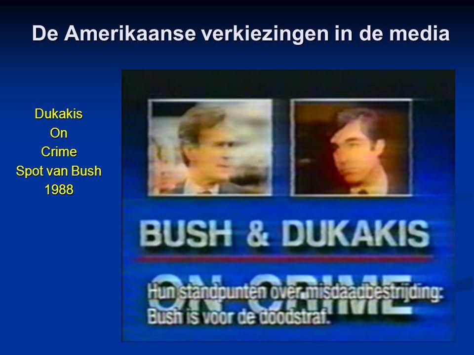 De Amerikaanse verkiezingen in de media DukakisOnCrime Spot van Bush 1988