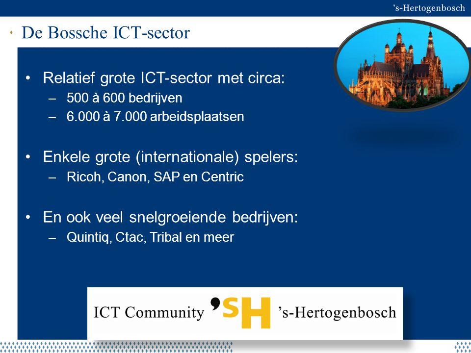 Aanleiding ICT Community Waarom: Bekendheid van de sector is beperkt; dus promotie en profilering van 's-Hertogenbosch als ICT hotspot is gewenst.