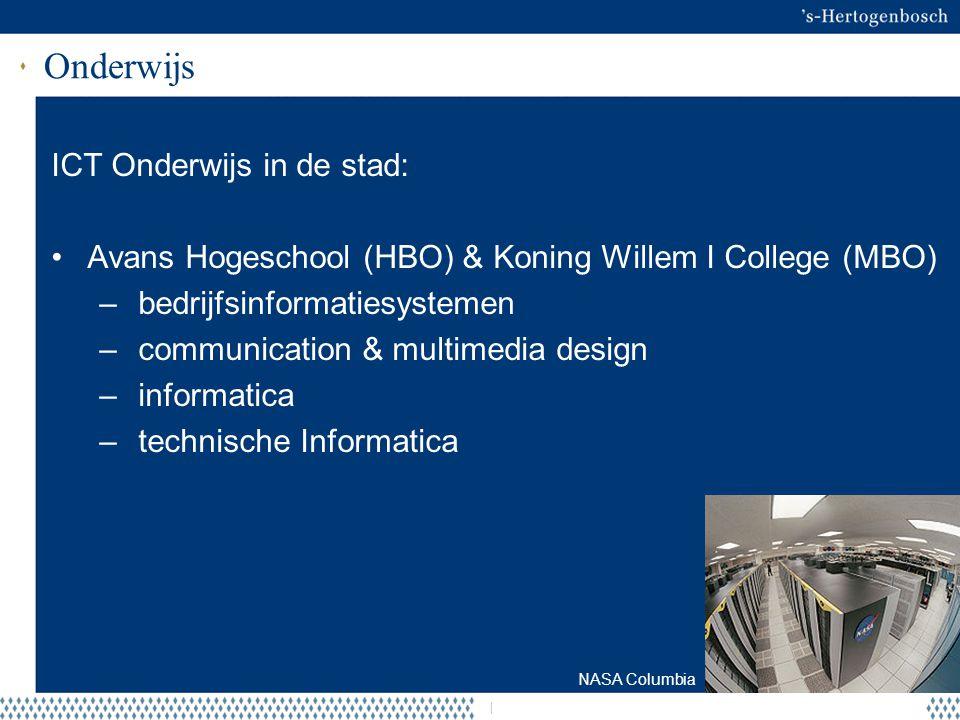 Onderwijs ICT Onderwijs in de stad: Avans Hogeschool (HBO) & Koning Willem I College (MBO) – bedrijfsinformatiesystemen – communication & multimedia d