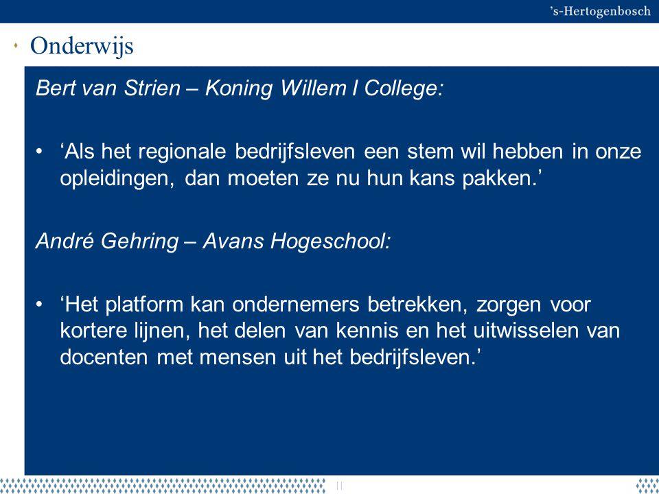 Onderwijs Bert van Strien – Koning Willem I College: 'Als het regionale bedrijfsleven een stem wil hebben in onze opleidingen, dan moeten ze nu hun ka