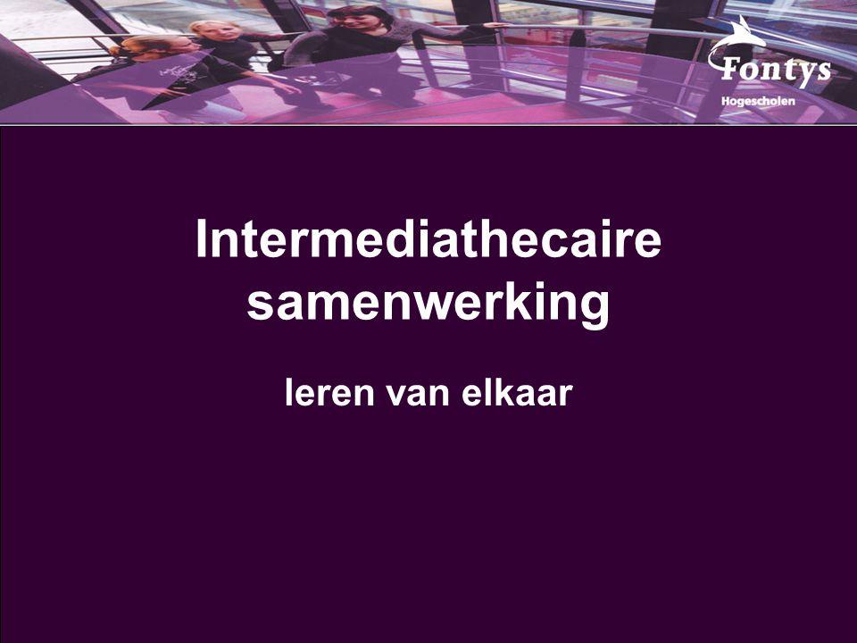 Intermediathecaire samenwerking leren van elkaar