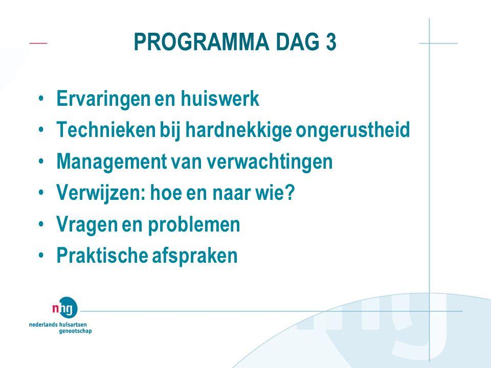 PROGRAMMA Dag 4 (2 uur) Ervaringen met technieken Presentaties (video, audio, schrift) Leerpunten, voornemens