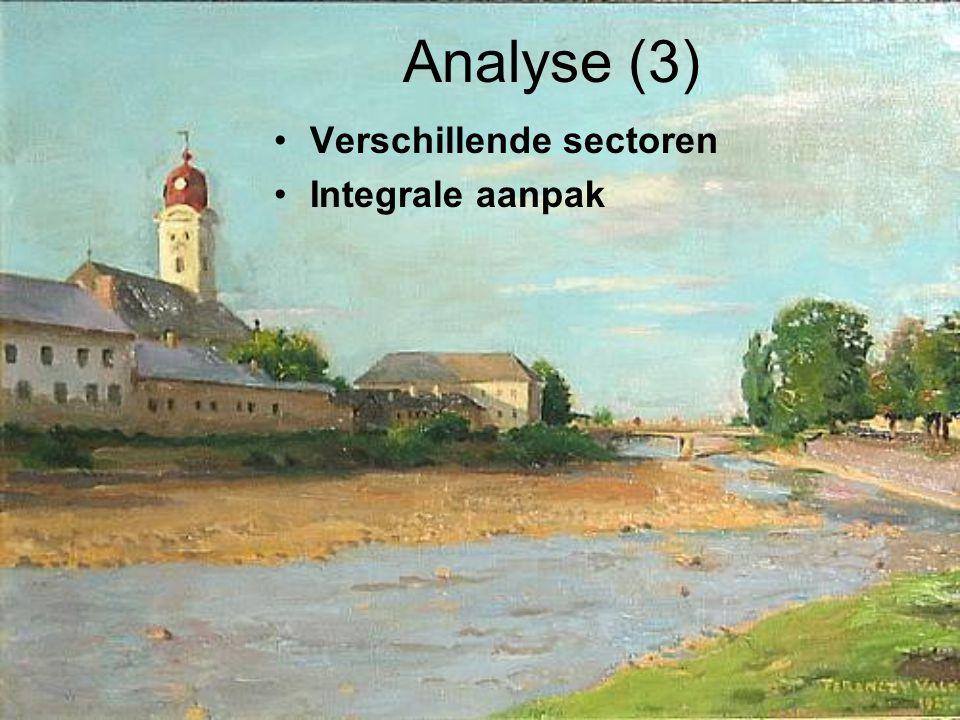 Analyse (3) Verschillende sectoren Integrale aanpak