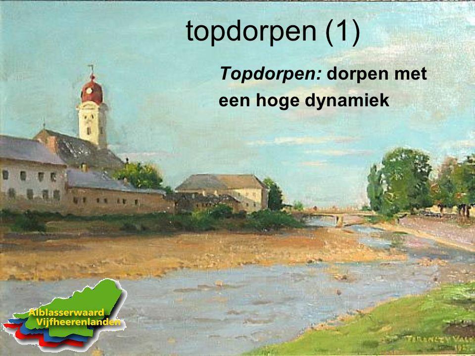 topdorpen (1) Topdorpen: dorpen met een hoge dynamiek