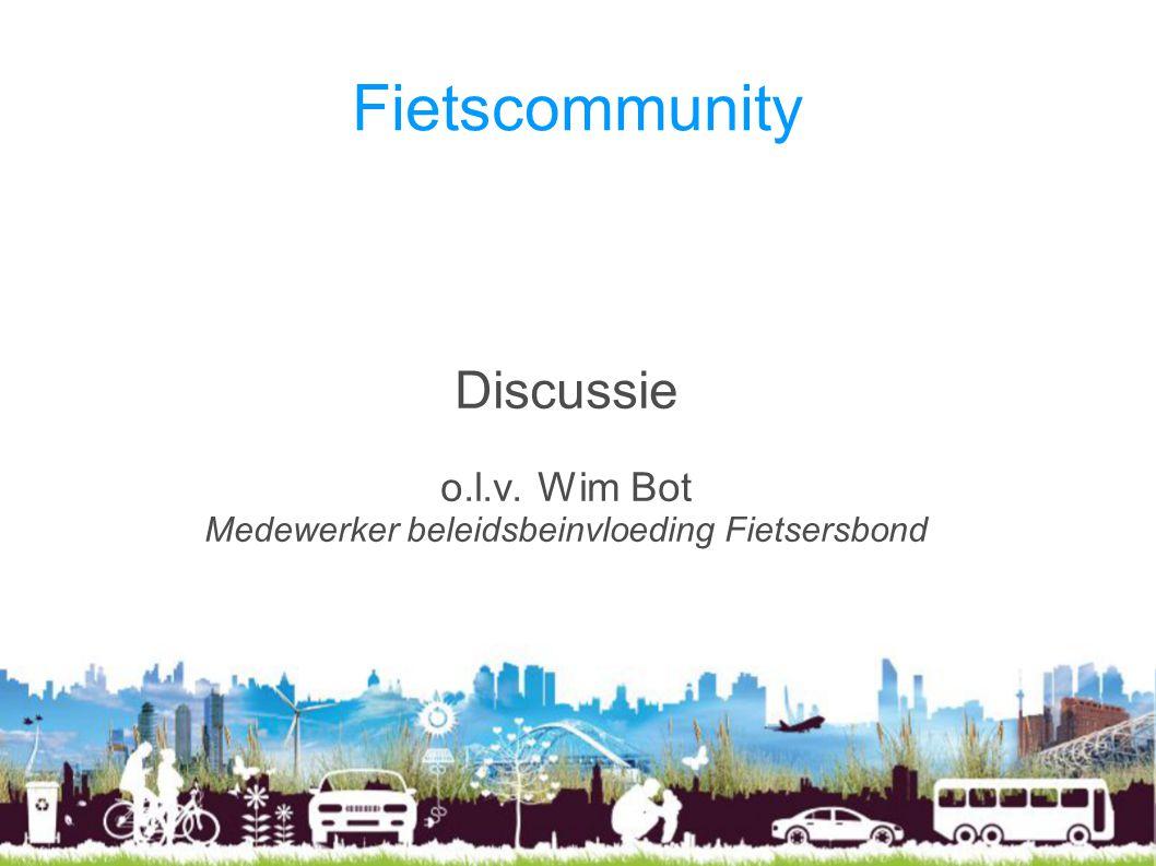 Fietscommunity Afsluiting Jan Klinkenberg, Netwerkmanager VerDuS Startbijeenkomst Fietscommunity 2 juli 2013