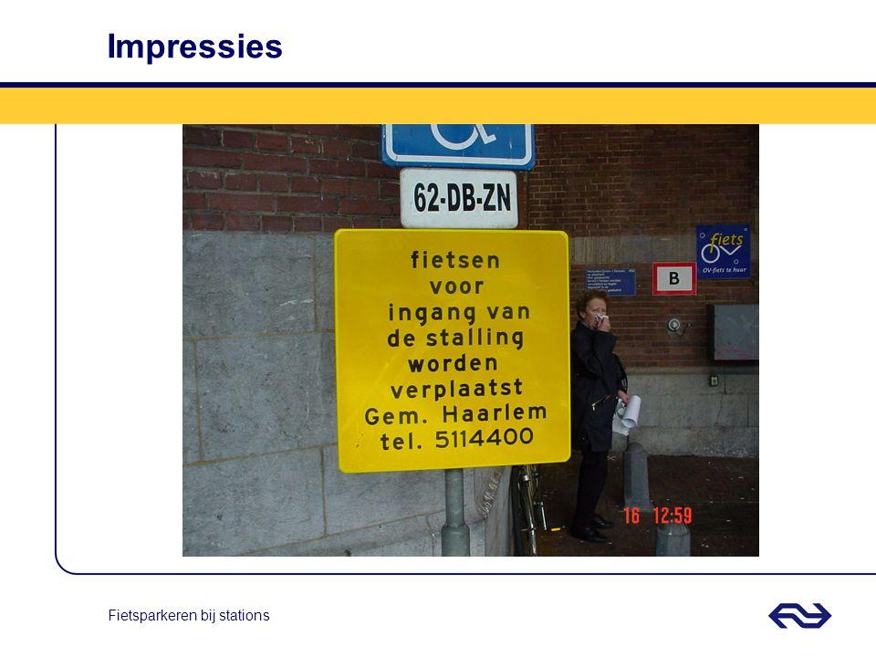Fietsparkeren bij stations Kwesties I Geen overdracht naar de beheerorganisatie, daardoor geen financiële middelen voor beheer.