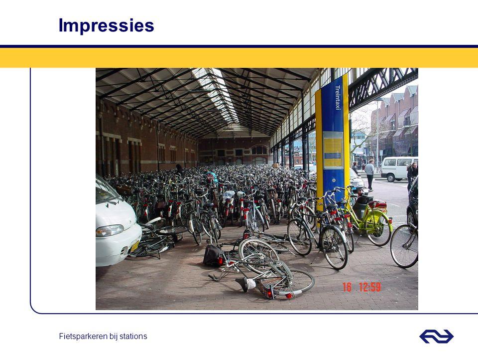 Fietsparkeren bij stations Kwesties II Iedere locatie en situatie is weer anders; overkappingen met glas of 'slechts' eenvoudige rekken plaatsen.